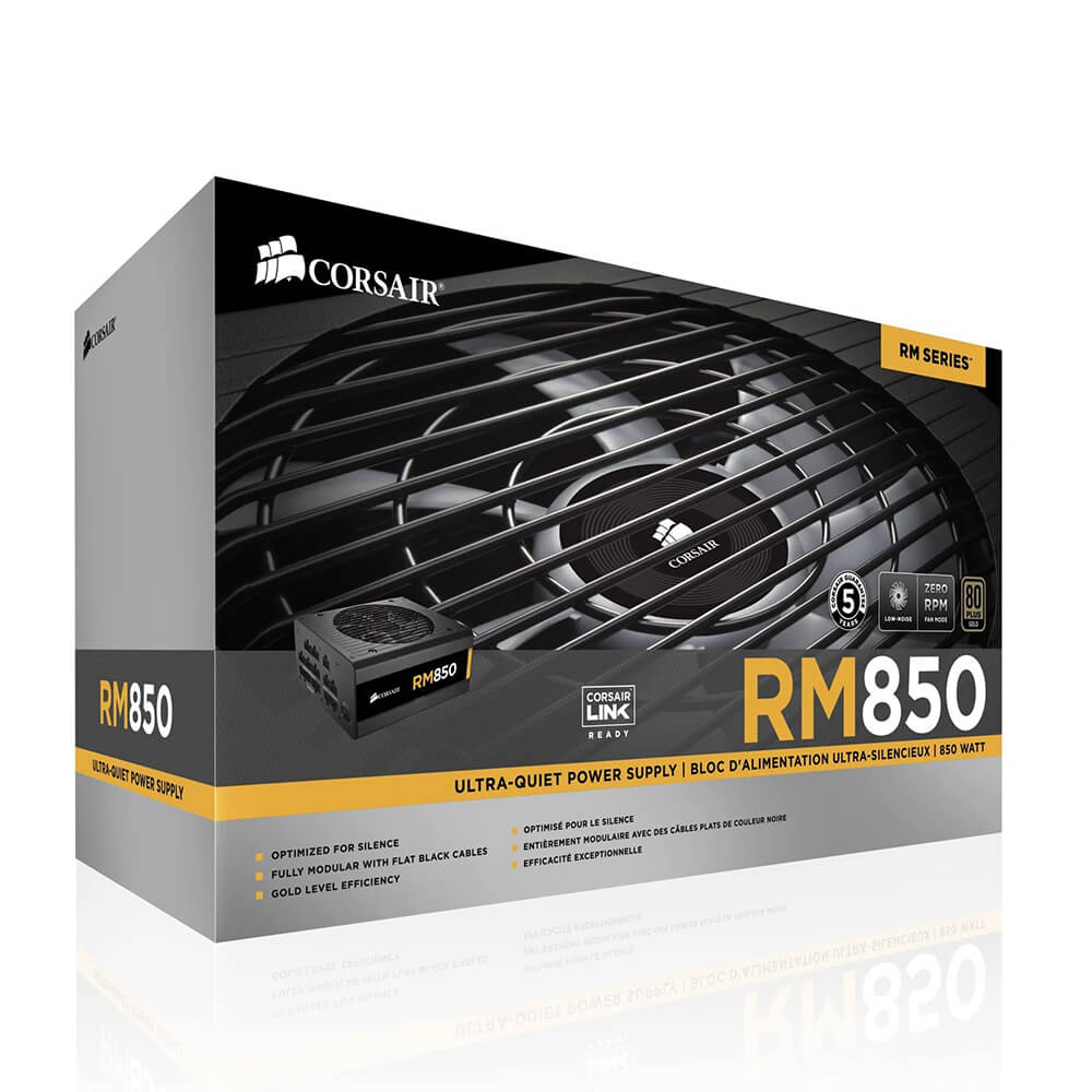 Corsair RM Series 850 RM850 – 850W. 80 Plus Gold