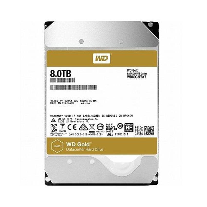 Western Digital Caviar Gold 8TB – 256MB Cache – Enterprise Sata3 HDD