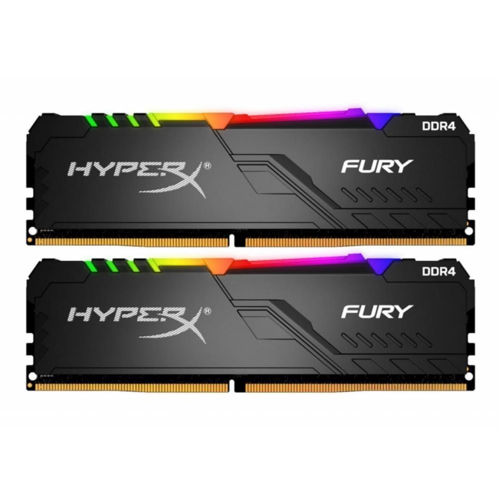 DDR4 Kingston HyperX Fury RGB 16GB 2x8GB 3200C16