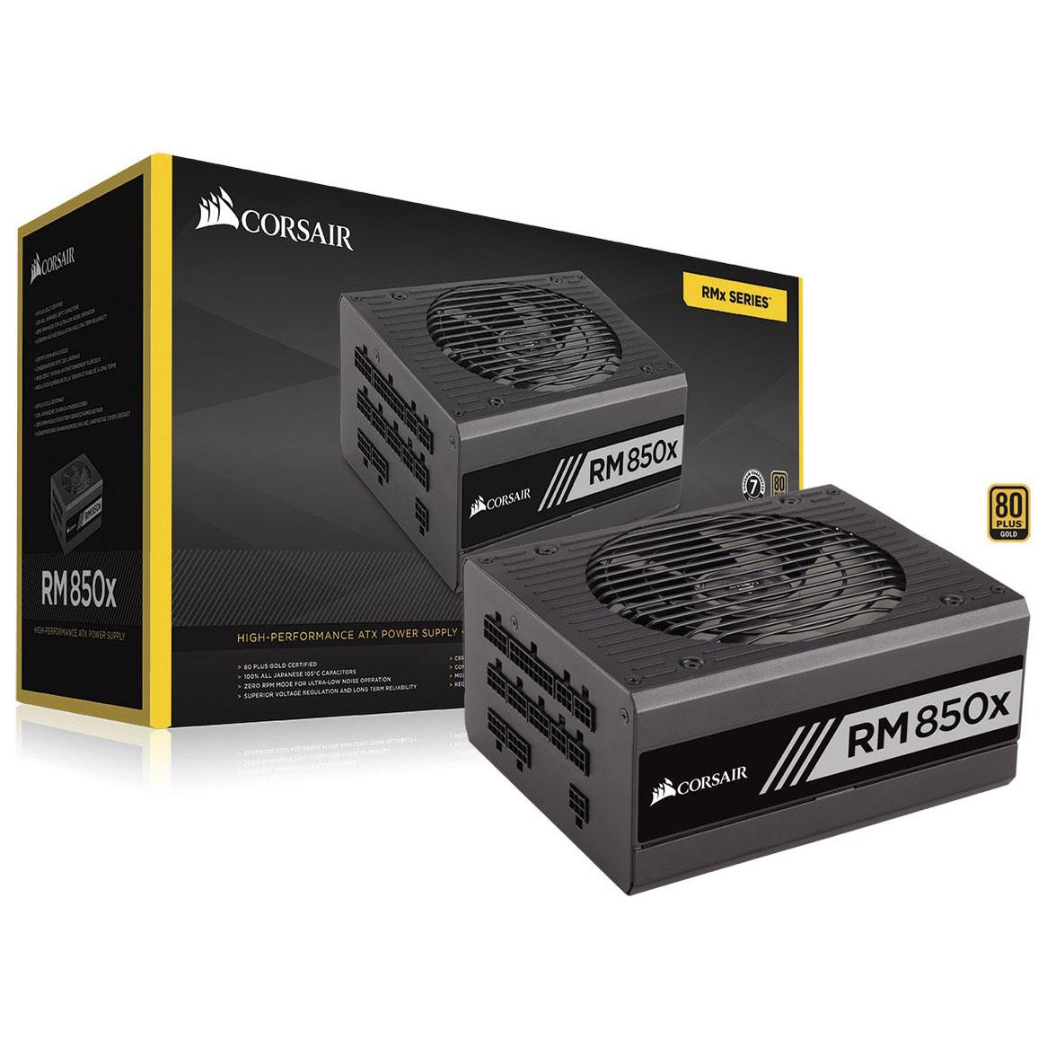 Corsair RM Series 850 RM850X – 850W. 80 Plus Gold