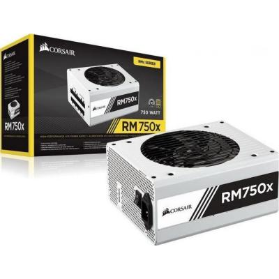 Corsair RM750X White 750w. Full Modular, 80Plus Gold, Active PFC.