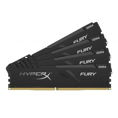 DDR4 Kingston HyperX Fury Black 32GB 4x8GB 2666C16